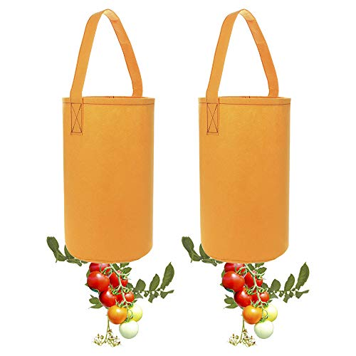 - TiTa-dong Tomato Planter Bag,2 Pack Upside-Down Tomato Planter Hanging Planting Grow Bags,Bottom Opening Designed for Growing Tomatoes Herb Plant