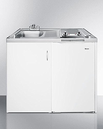 Summit C39GLASS Kitchen All in One Combination Unit, White (Summit Refrigerator Electric)
