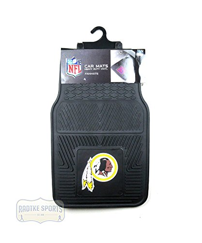 Washington Redskins Officially Licensed 17x27 Heavy Duty Vinyl NFL Car Mats 2 Piece Set ()