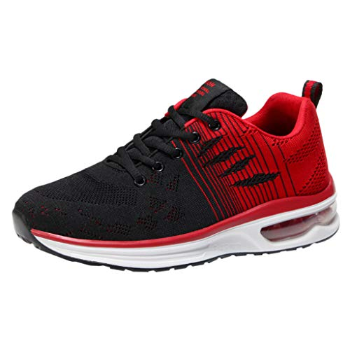 ANGERT& Mixed Colors Flats Sneaker Shoes for Men Classics Summer Black and red Sneaker Shoes Men Chaussures Femme Red 41]()