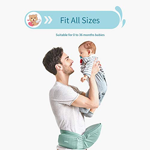 Toddler Waist Stool Carrier Baby Hip Seat Carrier Ergonomic Lightweight Padded Waist Belt with Storage Pack for Dad Mom