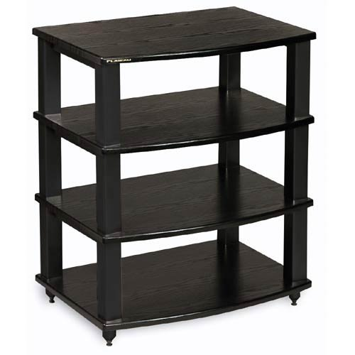 - Plateau XT-A4 BB Wood and Metal Audio Stand, Black Oak Finish