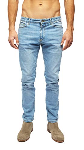 Heels & Jeans Mens Skinny Jeans Pants Comfy Stretch Stylish Slim Fit Denim (Indigo Wash, 28) ()