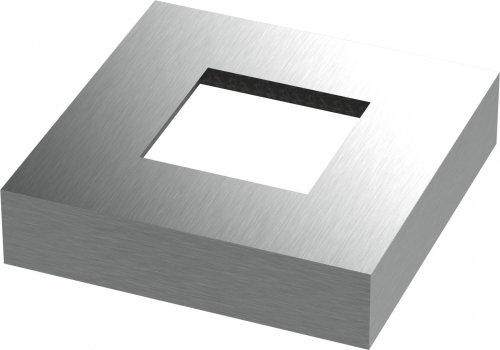 Abdeckrosette quadratisch 109 x 109 x 25mm, Wandstärke 2mm, Bohrung 50,5 x 50,5mm Wandstärke 2mm edelstahlonline24