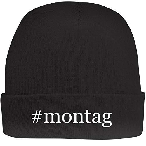 Shirt Me Up #Montag - A Nice Hashtag Beanie Cap, Black, OSFA