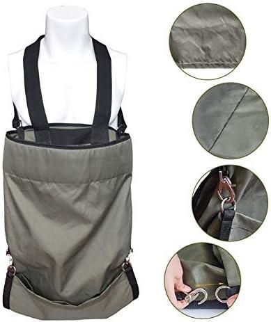 フルーツピッキングバッグ、女性または男性用、頑丈な防水調整可能サイズガーデンピッキングエプロン、