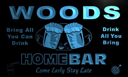 ADV PRO p1107-b Woods Home Bar Beer Family Last Name Neon Light Sign by AdvPro Name (Image #3)
