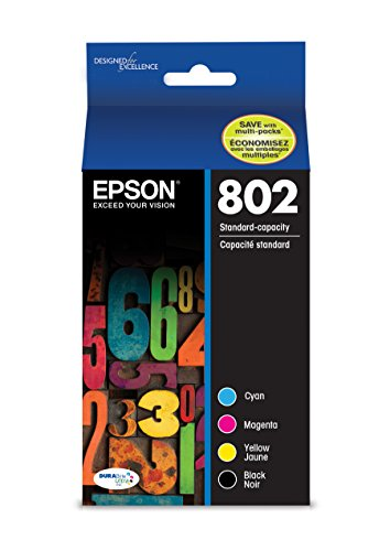 - Epson T802120-BCS DURABrite Ultra Black and Color Combo Pack Standard Capacity Cartridge Ink