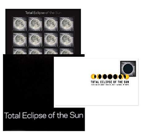 Total Eclipse of The Sun Forever Stamps Sheet with Protective Sleeve (1 Sheet with Sleeve)