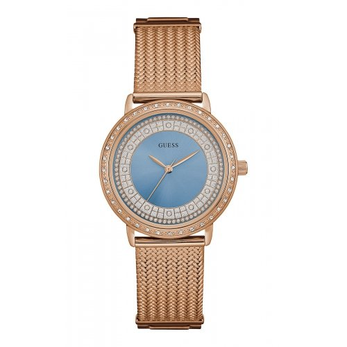 Watch Guess Women Blue Willow W0836L1 rose gold plated steel