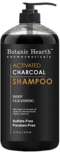 Botanic Hearth Activated Charcoal Shampoo, Sulfate Free - Daily Clarifying and Cleansing Hair Shampoo for Men and Women