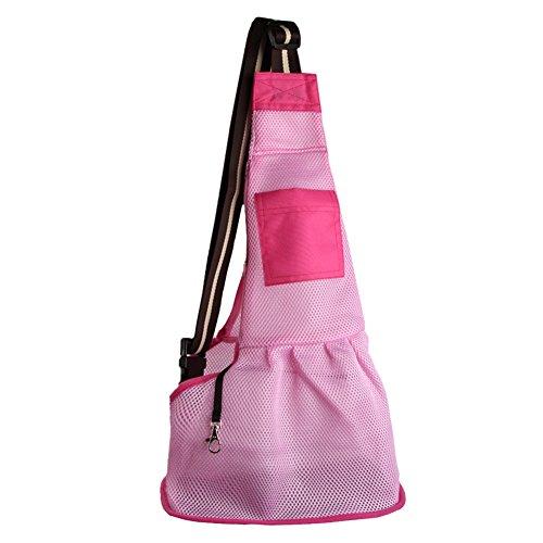 Funkeen Pet Sling Dog Comfort Soft-sided Carrier Cat Mesh Backpack Tote Bag Puppy Bottle Pocket for Small Medium Pets by Funkeen