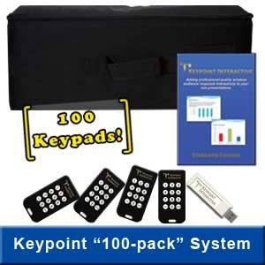 Keypoint Interactive Audience Response System with 100 Keypads (Best Audience Response System)
