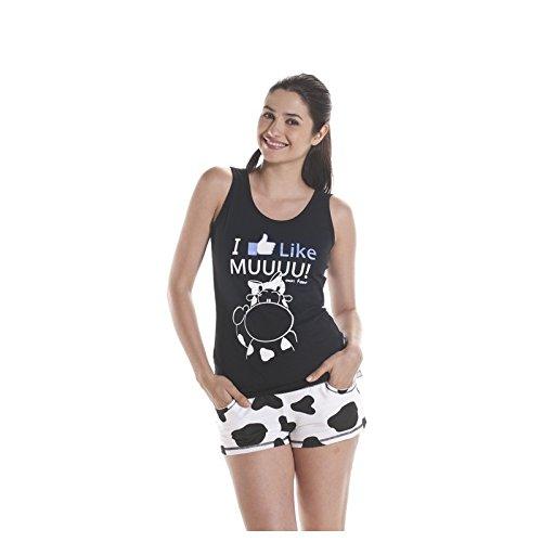 NSN - Pijama 14772, mujer, color negro, talla s