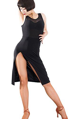 Sexy Abito Ballo Gonna Latino Vestito Valzer Da Vestito Vestito Nero Nuovo Latino Chagme x6Bqztgw