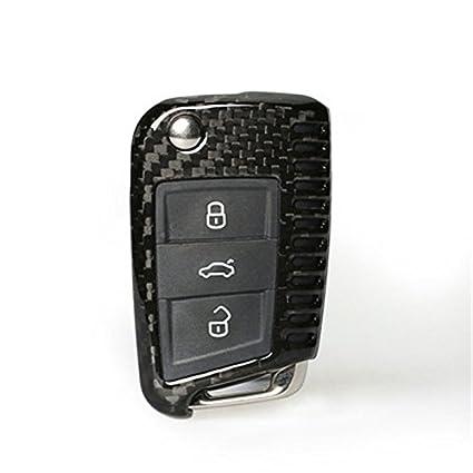 Amazon Com Xiangfa Carbon Fiber Car Key Cover Shell Vw Golf 7 Mk7