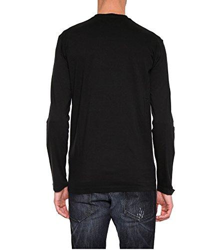 Dsquared2 Herren S71GD0538S22427900 Schwarz/Rot Baumwolle T-Shirt