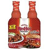 Frank's Red Hot Sauce Glass Bottle, Original Cayenne, 50-Ounce