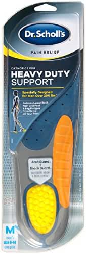 Dr. Scholl's Pain Relief Orthotics for Heavy Duty Support for Men, 1 Pair, Size 8-14