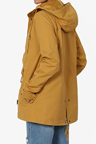 TheMogan Junior's Washed Twill Hooded Utility Anorak Jacket Mustard M by TheMogan (Image #4)