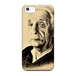 5c Scratch-proof Protection Case Cover For Iphone/ Hot Albert Einstein Phone Case