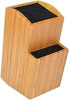 ETTU - Soporte Universal para Cuchillos sin Ranuras - 2 Bloques - Madera de Bambú - Extragrande