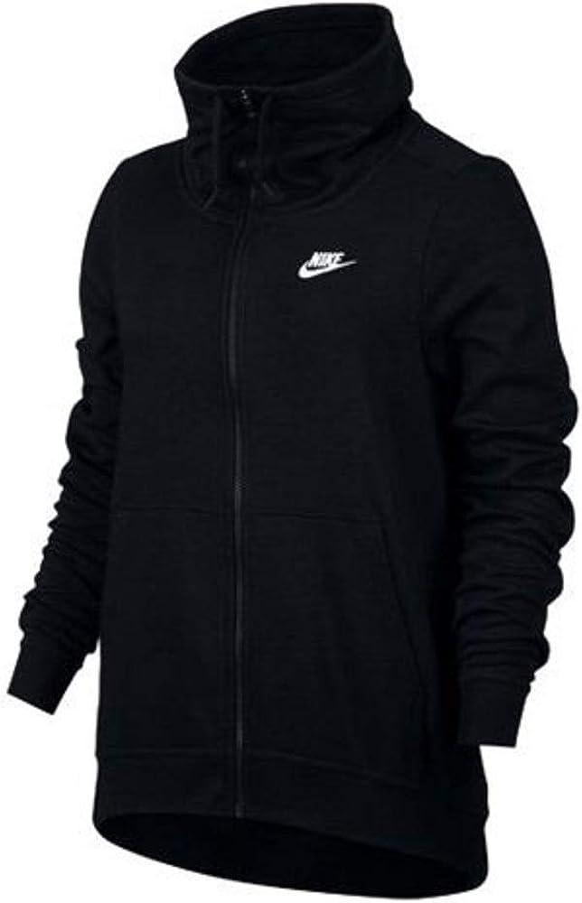 Nike W NSW Fnl FZ Club Chamarra para Fitness, Mujer, Negro, L