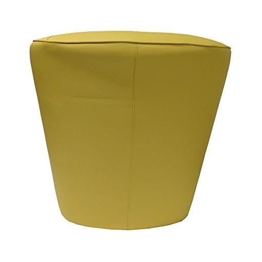 Poltrona giallo ocra in ecopelle per cucina sala da pranzo ...