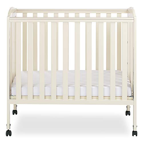 Crib French (Dream On Me 3-in-1 Folding Portable Crib, French White)