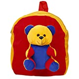 Amber Shine Teddy Plush Fabric soft toy school bag for play school kids/boys/girls/baby/children