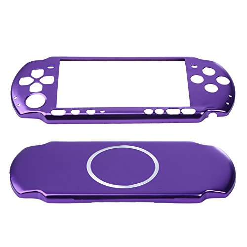 TTnight Aluminum Hard Case Cover Shell Guard Protector for Sony PSP 3000 Slim Conso (Purple)