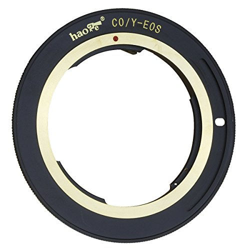 Haoge Lens Mount Adapter for Contax/Yashica C/Y CY Mount Lens to Canon EOS Rebel 80D 70D 60D 50D 550D 500D 5D 5DS 7D EF EF-S Mount Camera ()