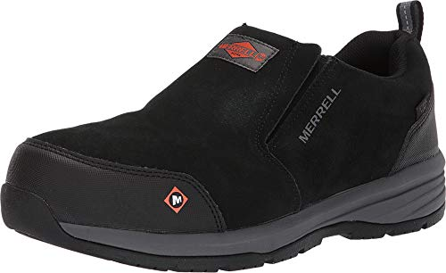 Merrell Work Men's Windoc Moc Steel Toe Black 10 M US (Shoes Toe Moc Work)