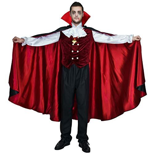 Mens Gothic Vampire Costumes - flatwhite Men's Halloween Gothic Vampire