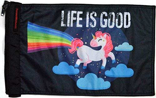 Forever Wave Bandera de Unicornio Life is Good