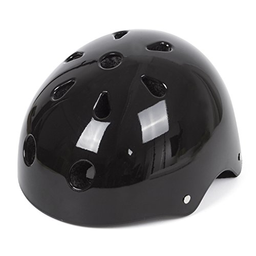 SUNVP Multi-sport Kids Bike Helmet With 23 Air Vents Lightweight Specialized Safety Protection Helmets for Rock Climbing Scooter Skateboard Skating Cycling(Black)