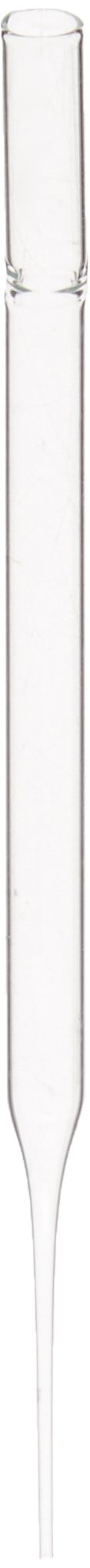 Corning 7095D-5X Borosilicate Glass Non-Sterile Disposable Pasteur Pipets, Unplugged, 5.75'' Length (Case of 1000)