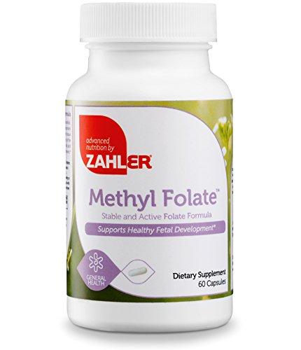 Zahler Methyl Folate (Quatrefolic Acid), 1000MCG, Supports Healthy Fetal Development, Certified Kosher, 60 Capsules