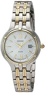 Seiko (SEIE7) Quartz Stainless Steel Dress Watch, Color Two Tone (Model: SUT218)
