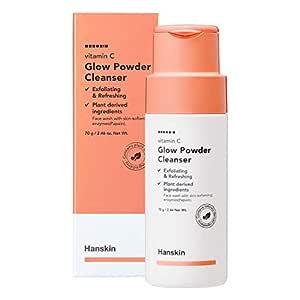 Hanskin Vitamin C Glow Powder Cleanser, Papaya Enzyme Powder Face Wash. Exfoliating and Refreshing [70ml]