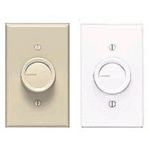 Dk Dimmer (New Lutron Fs-5fh-dk White Ivory Fan Control Turn Dimmer 1280098