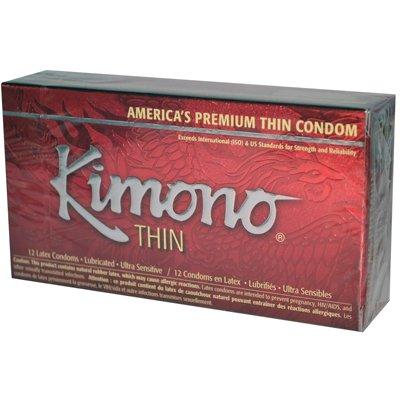 Liverite - Mayer Laboratories Kimono Premium Thin Latex Condoms - 12 Pack - Pack Of 1
