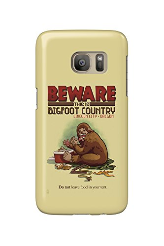 Lincoln City, Oregon - Bigfoot Country - Don't Store Food in Tent (Galaxy S7 Cell Phone Case, Slim Barely - In Oregon City Stores Lincoln