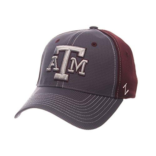 ZHATS NCAA Texas A&M Aggies Adult Men Grid Cap, Medium/Large, Gray/Team Color