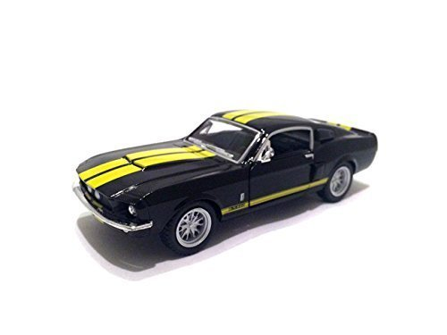 kinsmart Scale 1/38 1967 Ford Shelby Mustang GT-500 diecast car Black ()