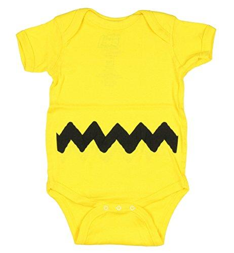 Charlie Brown I Am Charlie Baby Romper Bodysuit (0-6 Months) ()
