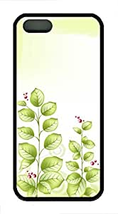 Fresh Green Leaves - iPhone 5S Case Funny Lovely Best Cool Customize Black Cover