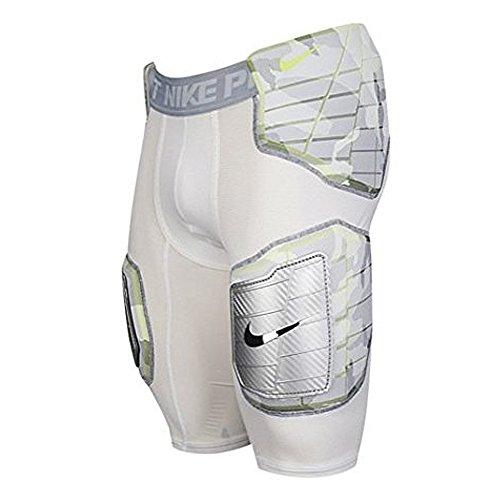 Nike Pro Combat Football Pants, White/Neon/Camo, Mens Sma...