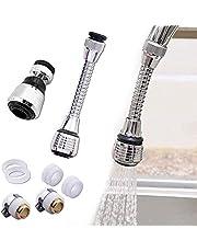 [2 stuks] Keukenkraan sproeikop, kraan douche, kraan douche opzetstuk, 360° draaibare keukenkraan sproeikop, kraanverlenging, kraan adapter voor aanrecht voor keuken