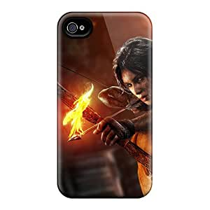 Tpu Case For Iphone 4/4s With 2013 Tomb Raider Game